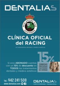 Los jugadores del Racing visitan la Clínica Dentalias