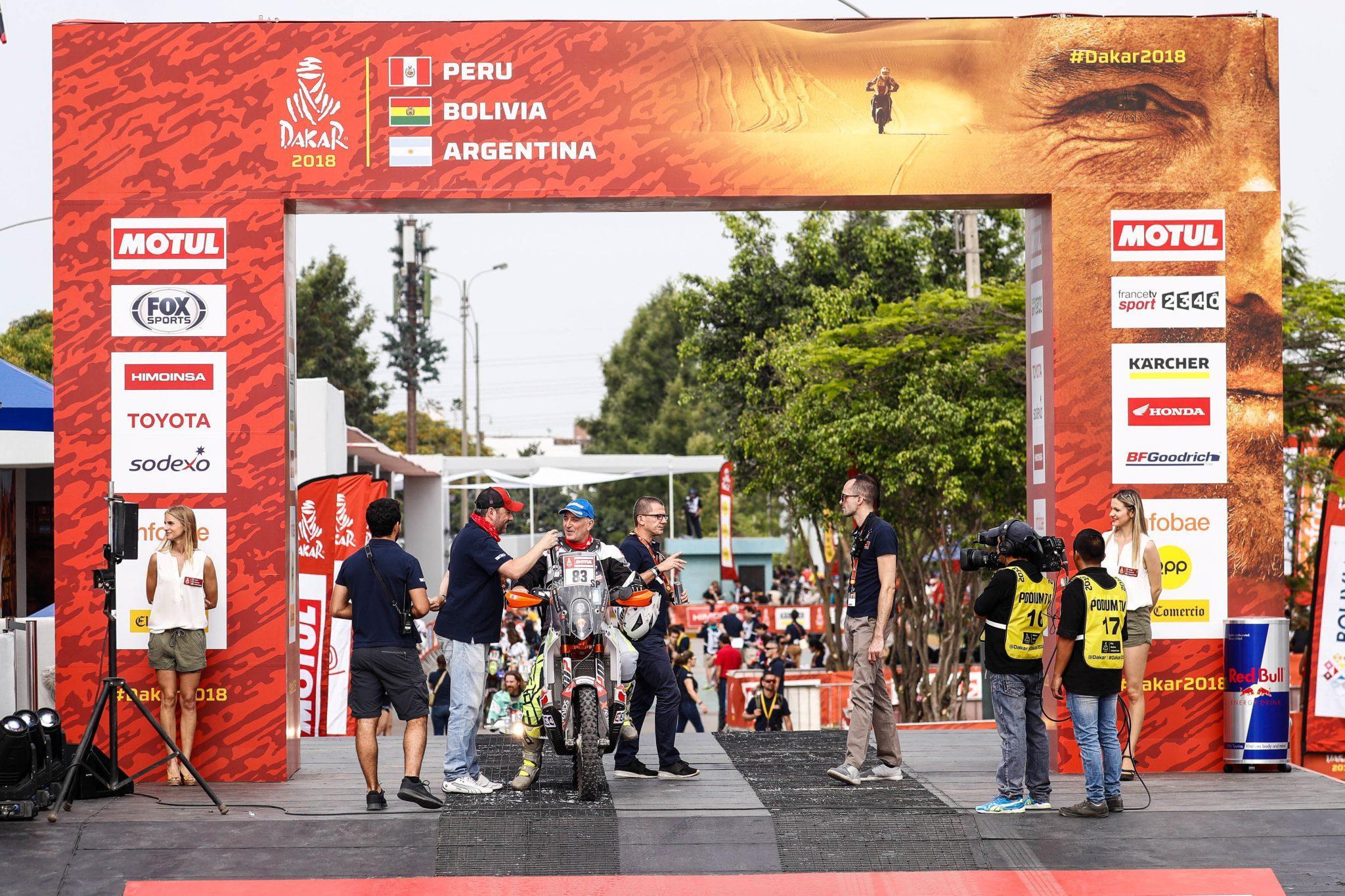 CHUS PURAS concluyó la primera etapa en la posición número 66 -de las 139 motos que tomaron la salida