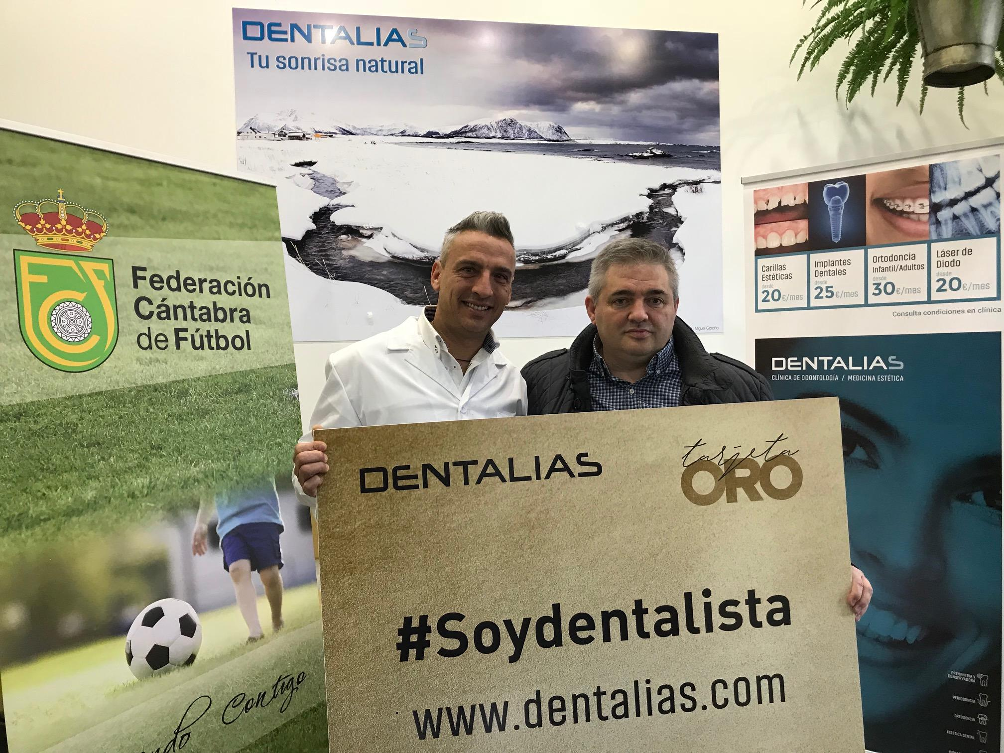 Dentalias se convierte en la clínica dental y de medicina estética de la Federación Cántabra de Fútbol