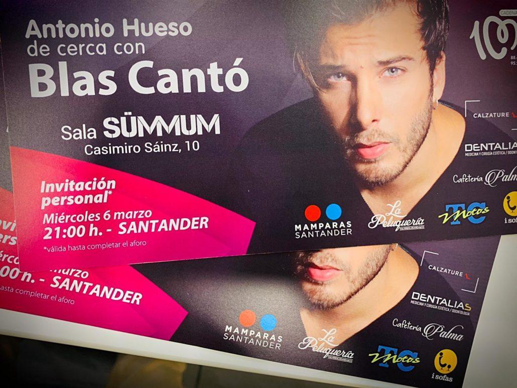 Dentalias te regala entradas para el concierto de Blas Cantó