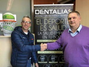 Dentalias y la Federación Cántabra de Baloncesto  firman un convenio de colaboración