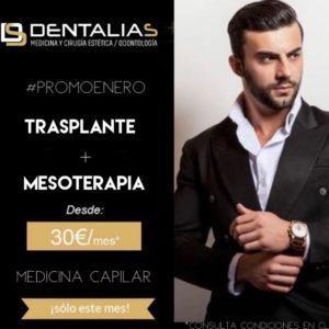 #PROMO ENERO  TRASPLANTE CAPILAR + MESOTERAPIA, SÓLO 30€ MENSUALES
