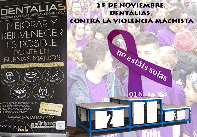 Dentalias, presente en la II Marcha Contra la Violencia Machista en Santander